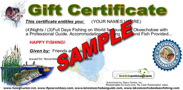 Fishing Gifts & Gift Certificates